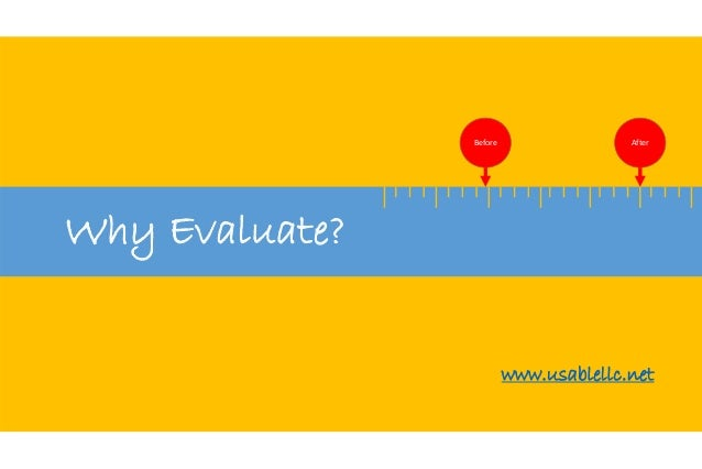 Why Evaluate?  Before After  www.usablellc.net