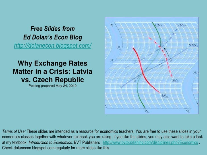 Free Slides fromEd Dolan's Econ Bloghttp://dolanecon.blogspot.com/Why Exchange Rates Matter in a Crisis: Latvia vs. Czech ...