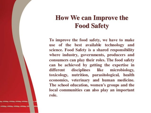 Why food safety is important?