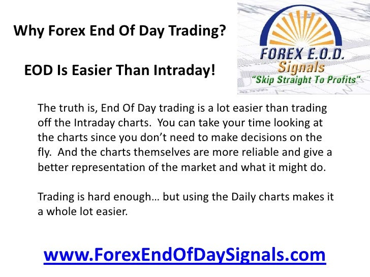 End of day forex data