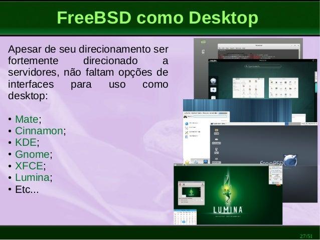 Por que FreeBSD?
