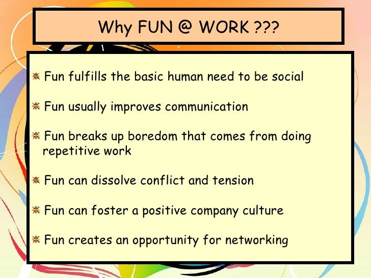 why fun at work necessary
