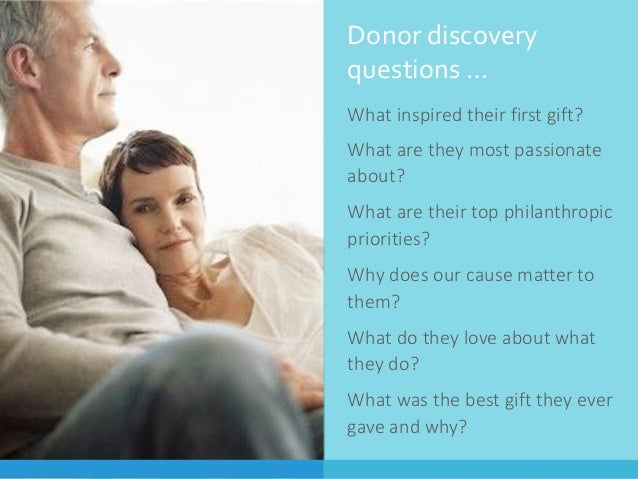 Why Fundraising is the F Word to Your Board SlideShare         Donor discovery questions