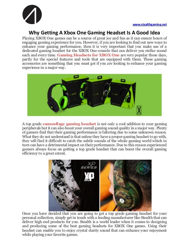 Why Getting A Xbox One Gaming Headset Is A Good Idea