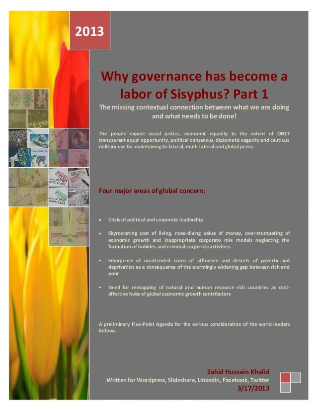 2013   Why governance has become a     labor of Sisyphus? Part 1   The missing contextual connection between what we are d...