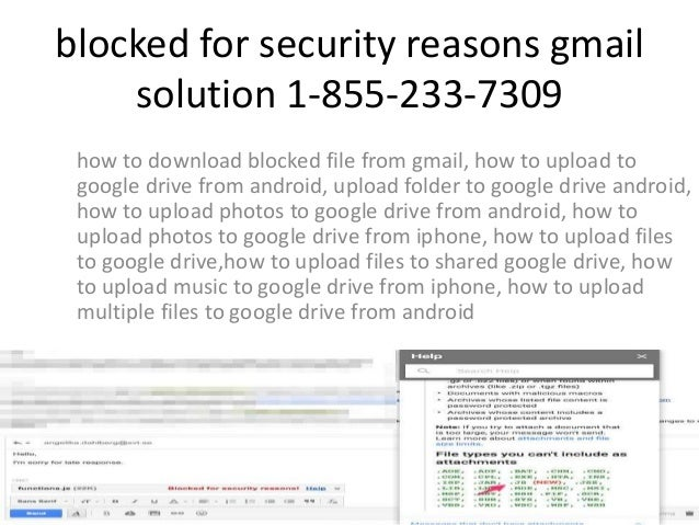 1-855-233-7309 Gmail Blocking Zip Files Customer Service