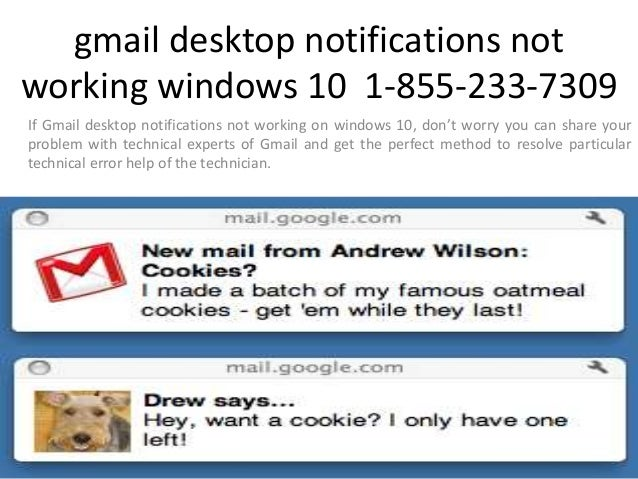 1-855-233-7309 Gmail Desktop Notification not Working