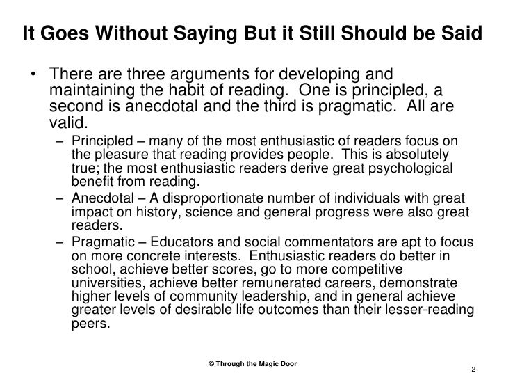 Why Habitual Reading Is Important