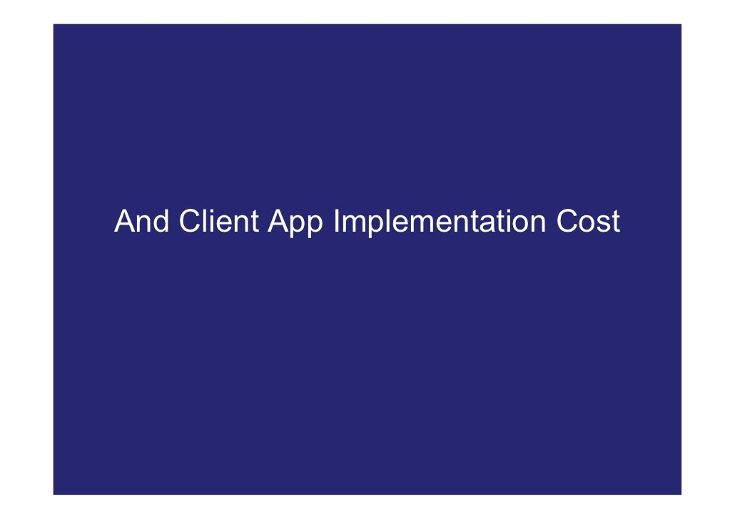 And Client App Implementation Cost