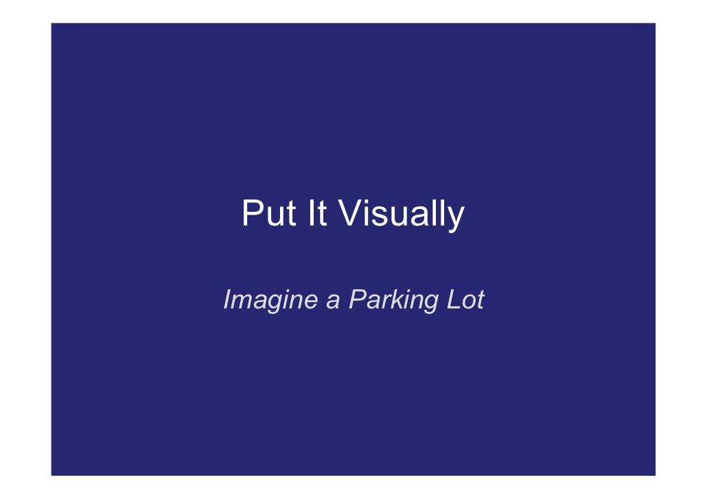 Put It Visually  Imagine a Parking Lot