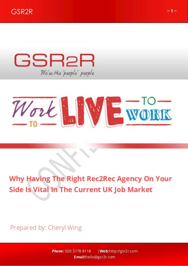 ~ 1 ~GSR2R Phone: 020 3178 8118 |Web:http://gsr2r.com Email:hello@gsr2r.com z Why Having The Right Rec2Rec Agency On Your ...