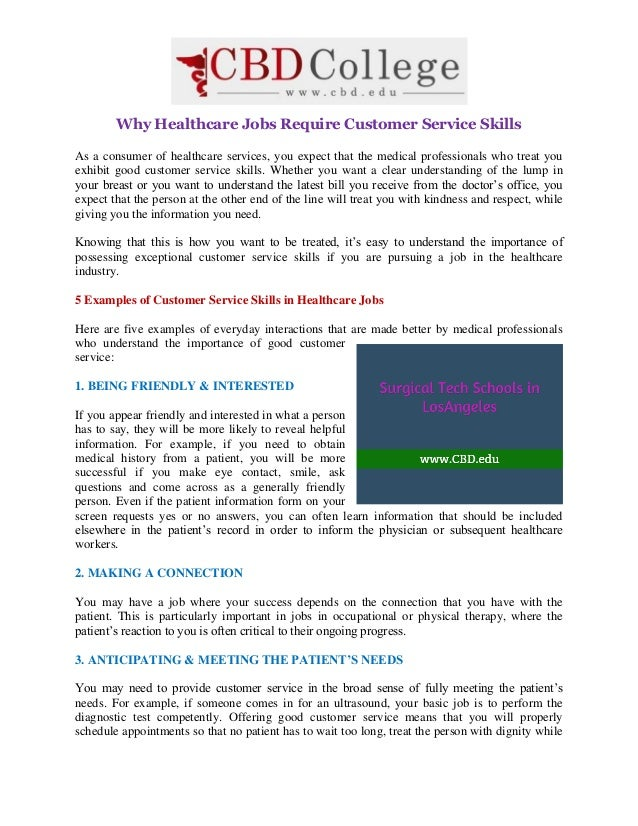 Awesome Why Healthcare Jobs Require Customer Service Skills As A Consumer Of Healthcare  Services, ...