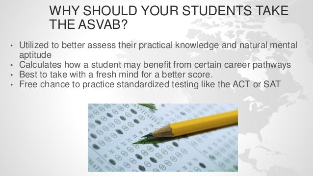 Why High School students should take the ASVAB