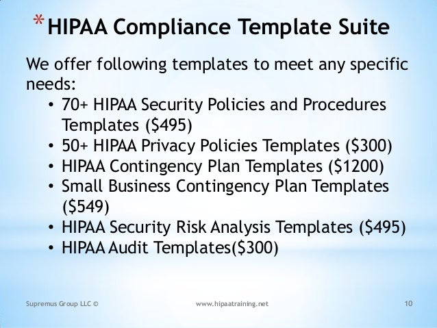 Customized hipaa training based on the job role of the individuals 10 hipaa compliance template pronofoot35fo Image collections