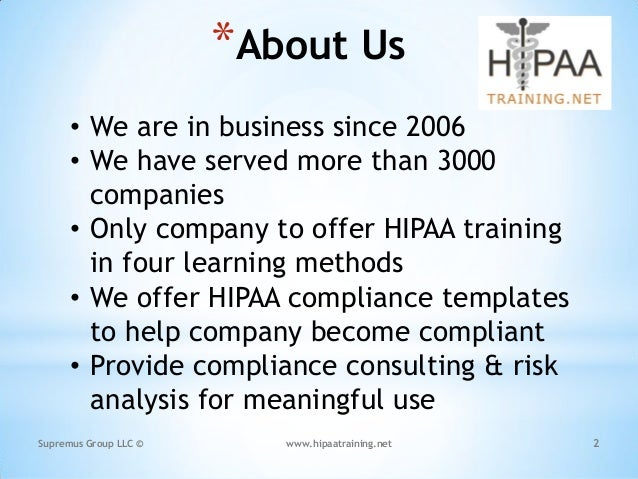 Customized HIPAA Training Based on the Job Role of the Individuals