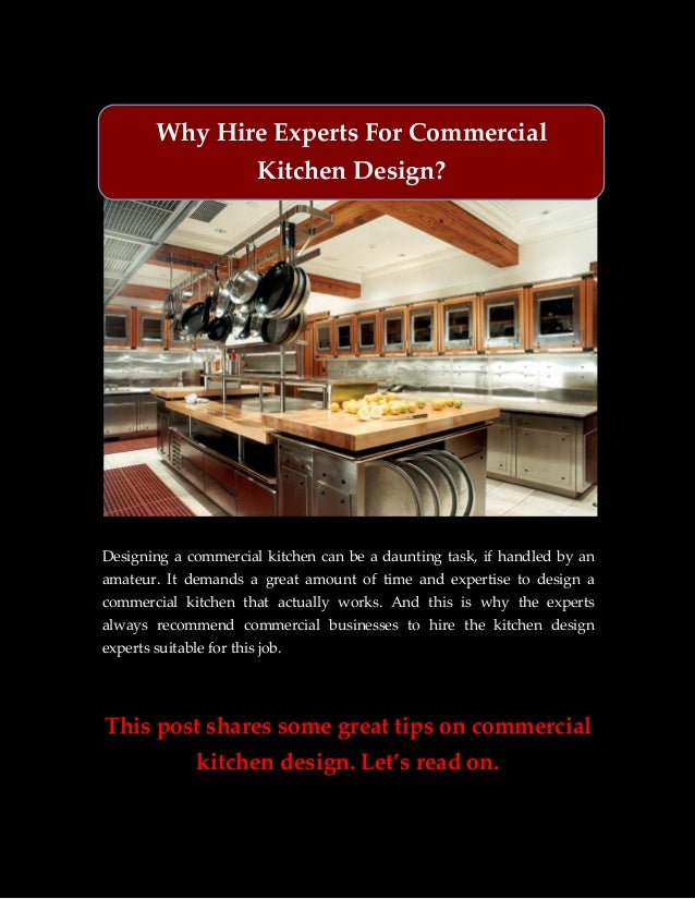 Why Hire Experts For Commercial Kitchen Design?