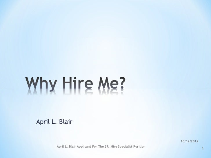 April L. Blair                                                                       10/12/2012       April L. Blair Appli...