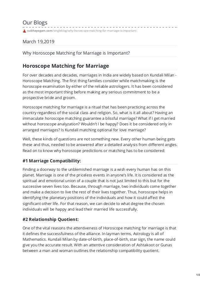 hvordan du gjør matchmaking i kundli