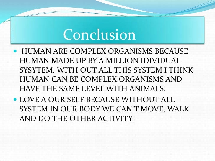 are humans an organism
