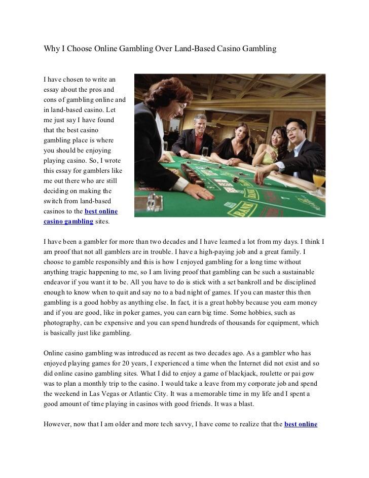 Gambling pros and cons essays gambling rehab