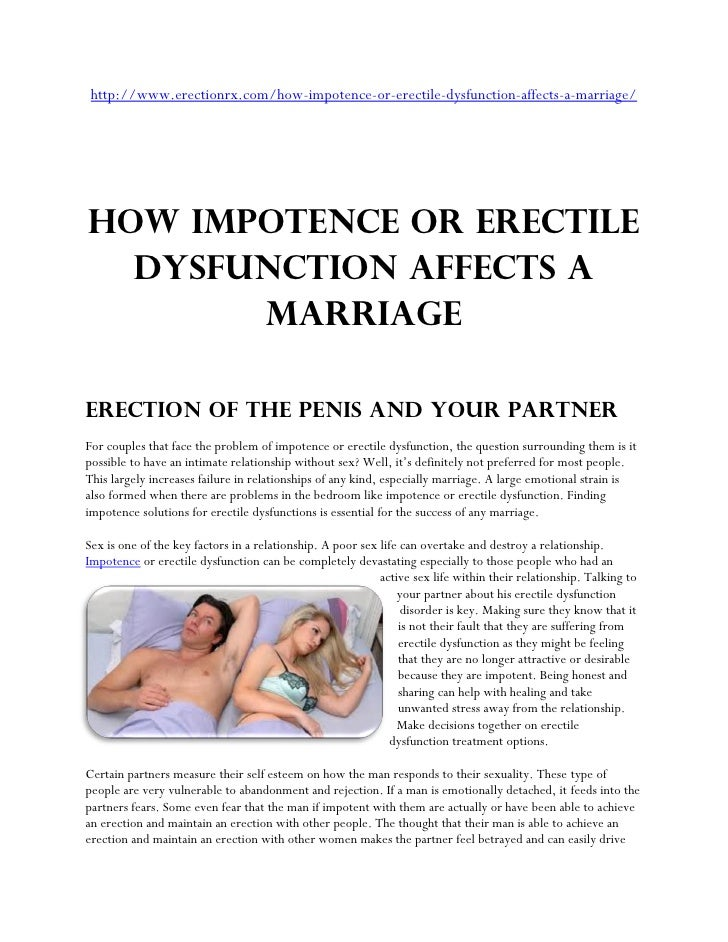 http://www.erectionrx.com/how-impotence-or-erectile-dysfunction-affects-a-marriage/How Impotence or Erectile  Dysfunction ...