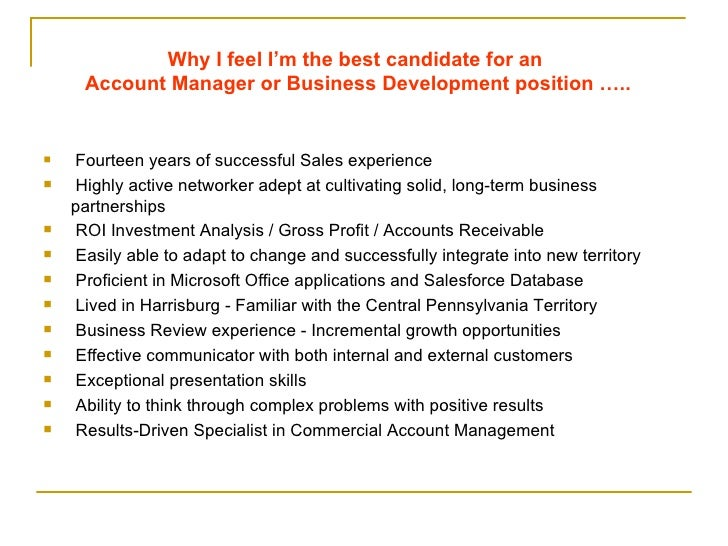 why am i the best candidate for the position