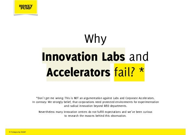 The Innovator´s Dilemma of Innovation Labs and Corporate Accelerators Slide 3