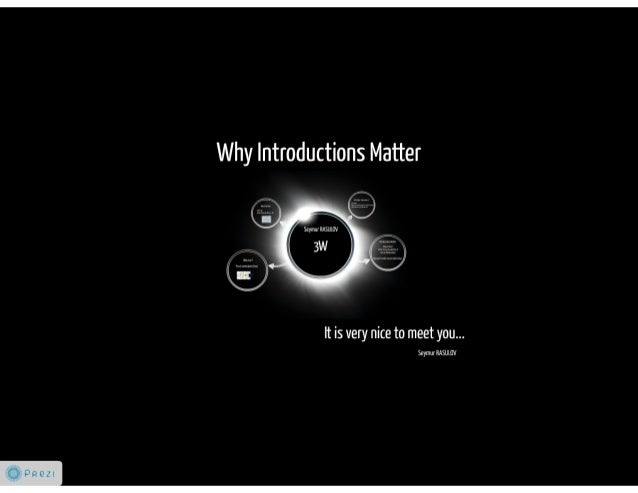 Why introductions matter