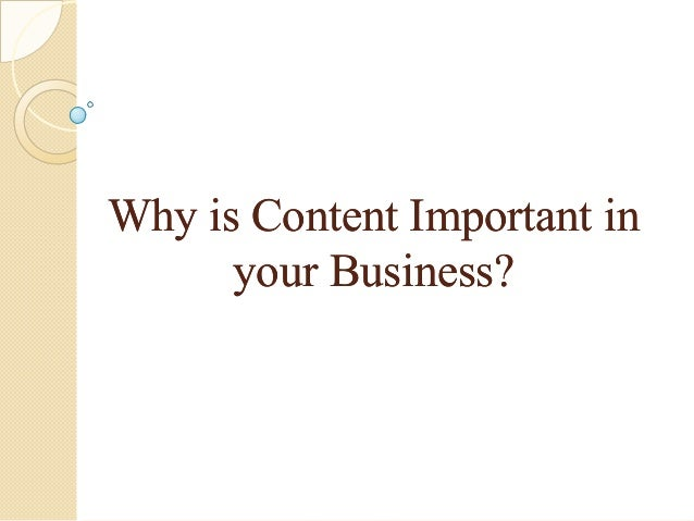 Why is Content Important in your Business?