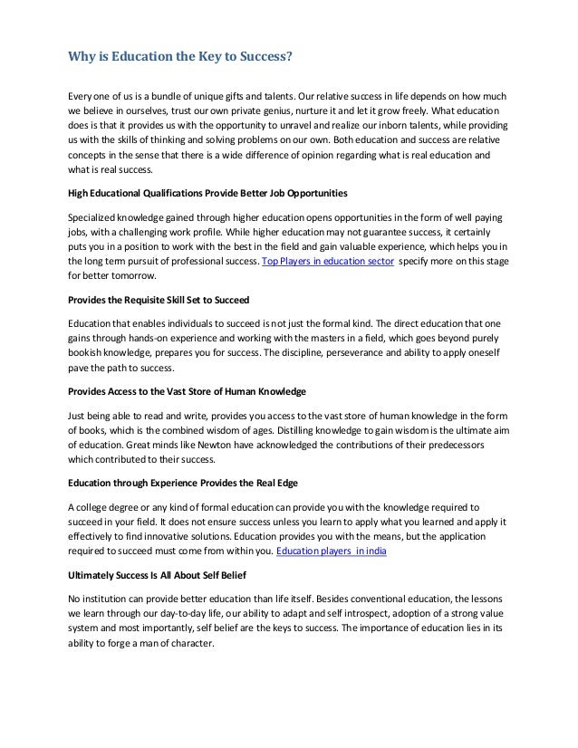 essay success all about eve sample essay year vce english  essay about education is the key to success meaning of essay ideas for middle school journalism