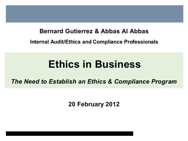 why are business ethics important In a world disillusioned with globalisation, the importance of business ethics is  greater than ever business needs to be truly acting in a way which goes beyond .