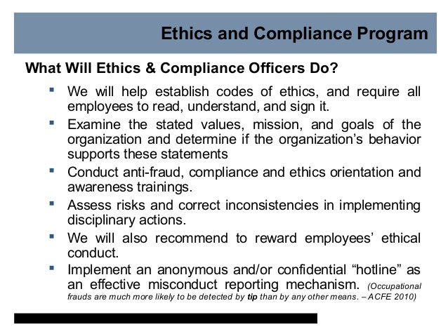 Why is ethics and compliance important - Ethics and compliance officer association ...