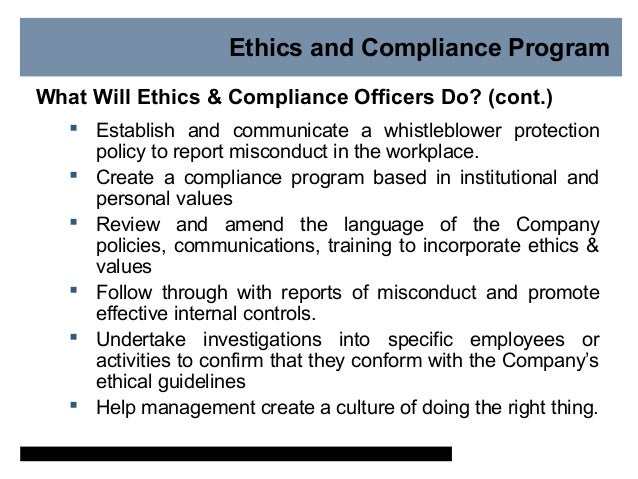 Why is ethics and compliance important - Compliance officer certification programs ...
