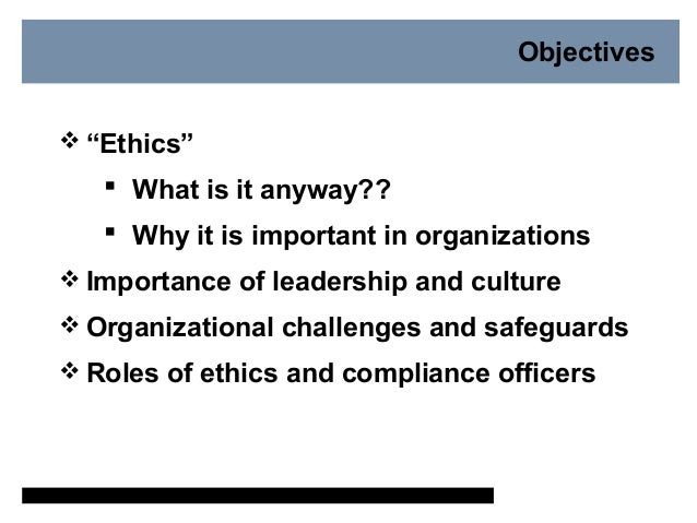 Why is ethics and compliance important - Ethics compliance officer ...
