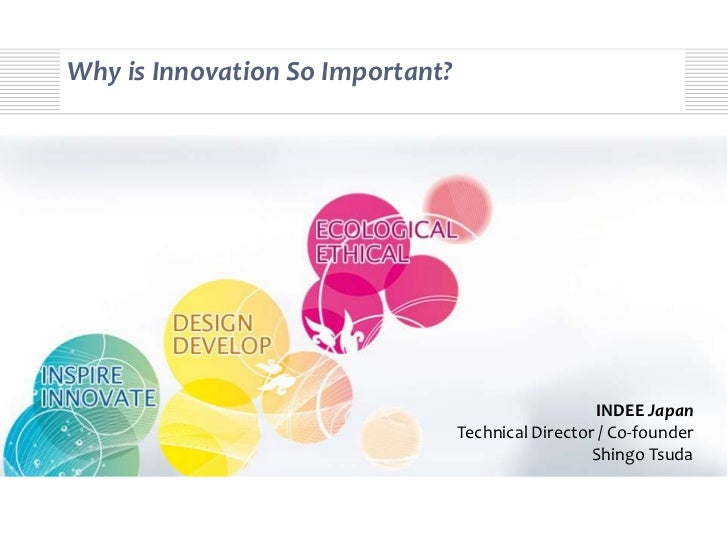 Why is Innovation So Important?                                                     INDEE Japan                           ...