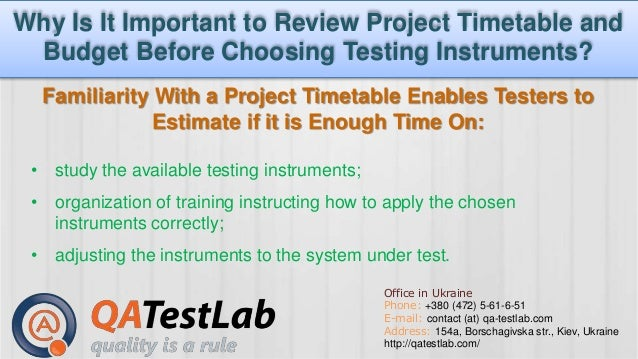 Why Is It Important To Review Project Timetable And Budget Before Cho…