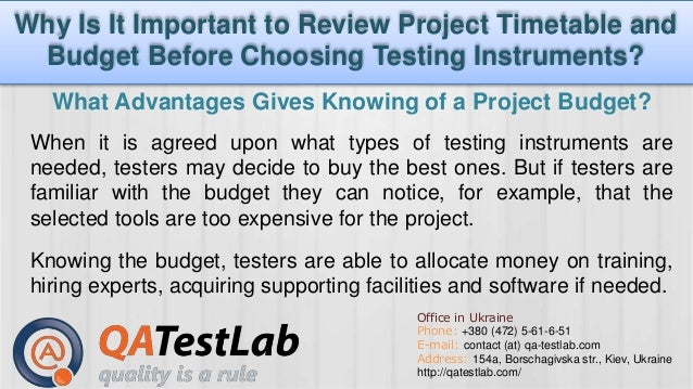 Why Is It Important To Review Project Timetable And Budget Before Cho