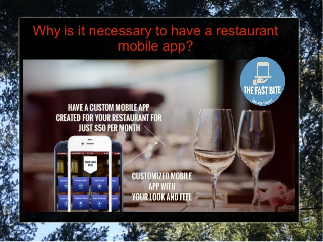 Why is it necessary to have a restaurant mobile app?