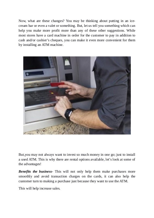 Why is it Useful to Rent An ATM Machine For Your Business? Slide 2