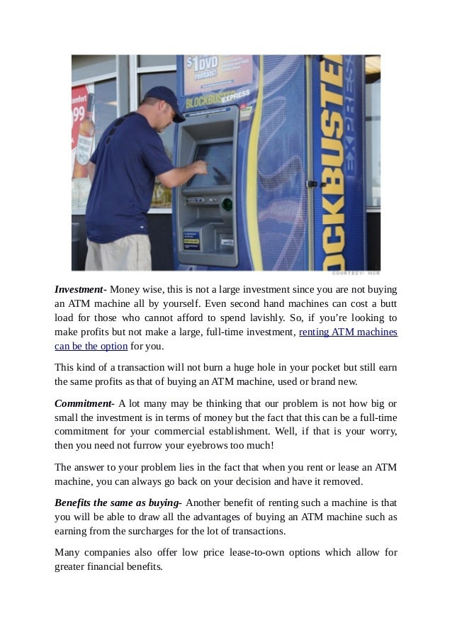 Why is it Useful to Rent An ATM Machine For Your Business? Slide 3