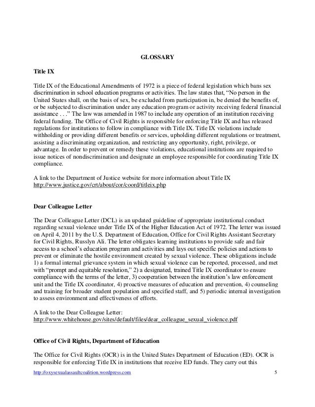 why is osac filing title ix and clery federal complaints against occi   5