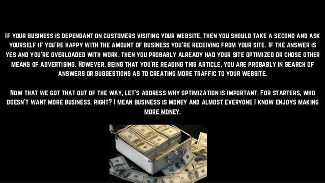 Why is search engine optimization important Slide 2