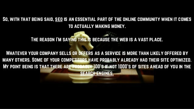 Why is search engine optimization important Slide 3