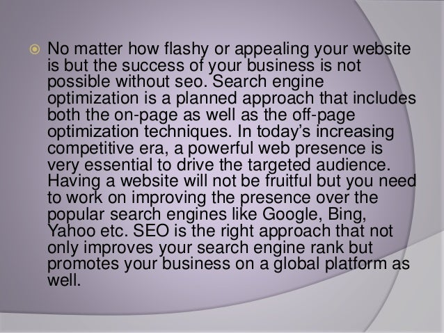 Why is SEO important for the online business Slide 2