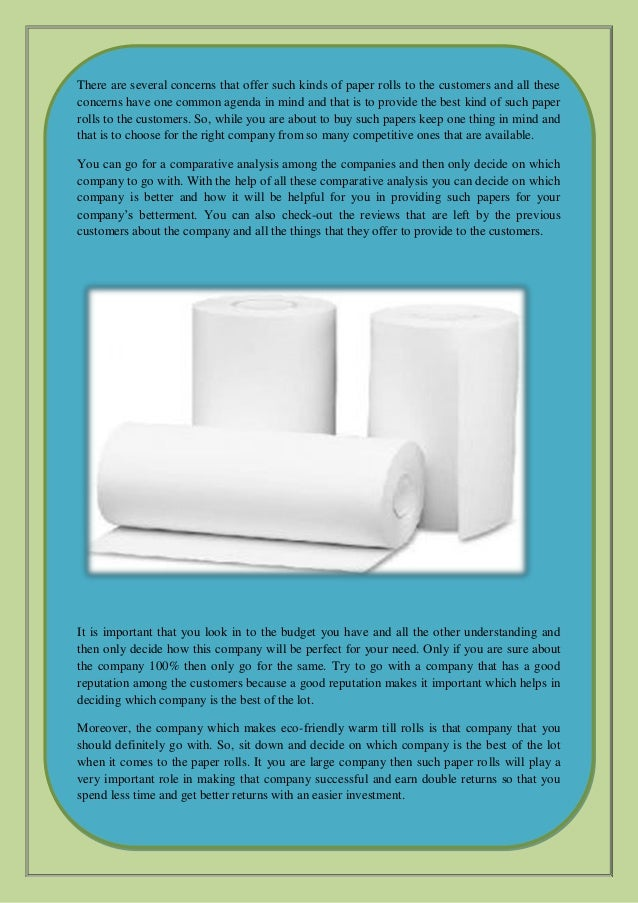 Why is utilizing thermal paper rolls important for a
