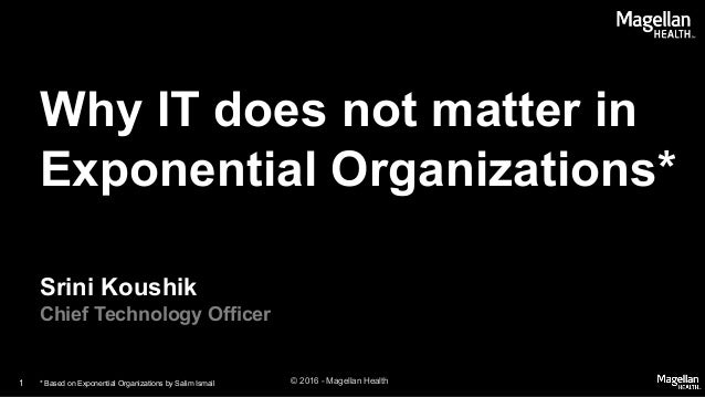Why IT does not matter in Exponential Organizations Slide 1