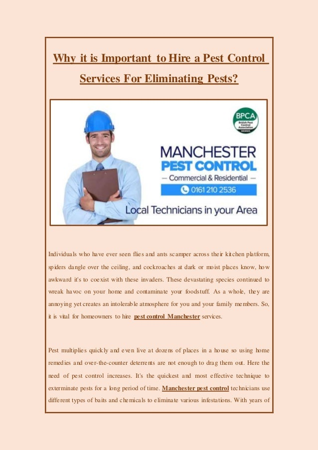 Why it is important to hire a pest control services for