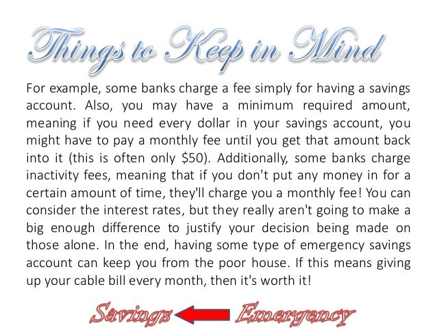 why it u0026 39 s important to have an emergency savings account
