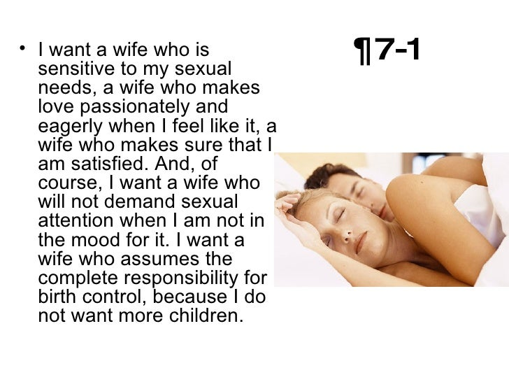 i want a wife judy brady I want a wife by judy brady 1- i belong to that classification of people known as wives i am a wife and, not altogether incidentally, i am a mother 2- not too long ago a male friend of mine appeared on the scene fresh from a recent divorce.