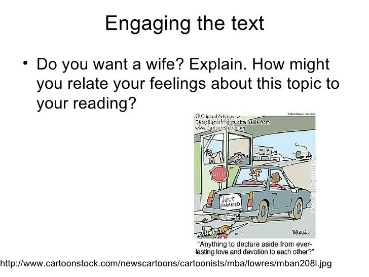 Why I Want A Wife   Engaging The
